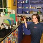 Julian in the kitchen